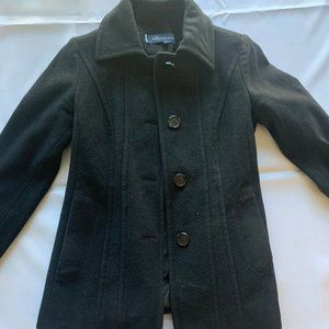 Woman's Black Pea Coat